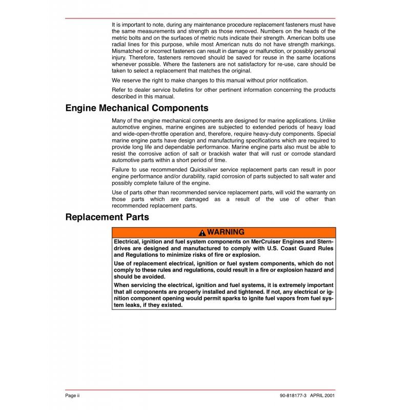 mercruiser alpha one parts manual