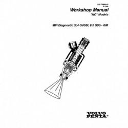 VOLVO PENTA Model NC 1996-MFI Diagnostic (7.4GI GSi 8.2GSi)-GM
