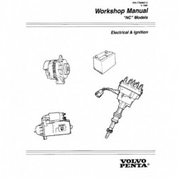 VOLVO PENTA Model NC 1996-Electrical & Ignition