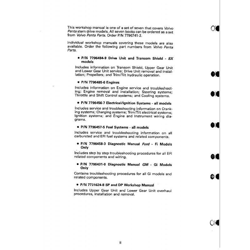 Manuel VOLVO PENTA 1994-Electrical & Ignition model MD