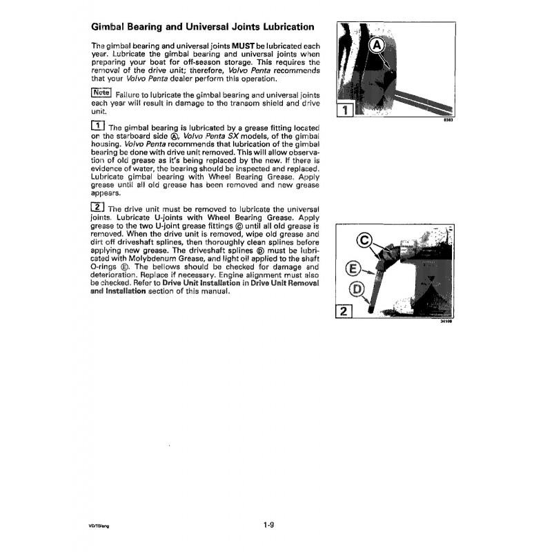 manuel volvo penta 1994 sterndrive sx s. Black Bedroom Furniture Sets. Home Design Ideas