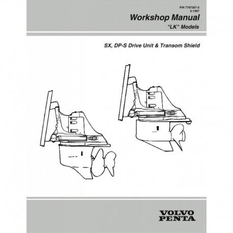 Manuel VOLVO PENTA Model LK 1997-SX DP-S Drive Unit & Transom Shield