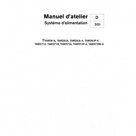 VOLVO PENTA DIESEL D61-D62-D63-D71-D72 - Système Alimentation