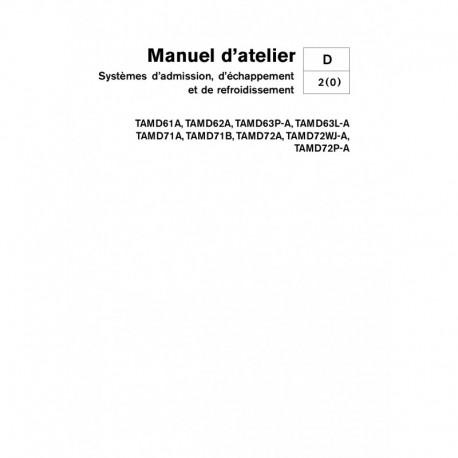 VOLVO PENTA DIESEL D61-D62-D63-D71-D72 Syst. Adm., Echap., & Refroidissement