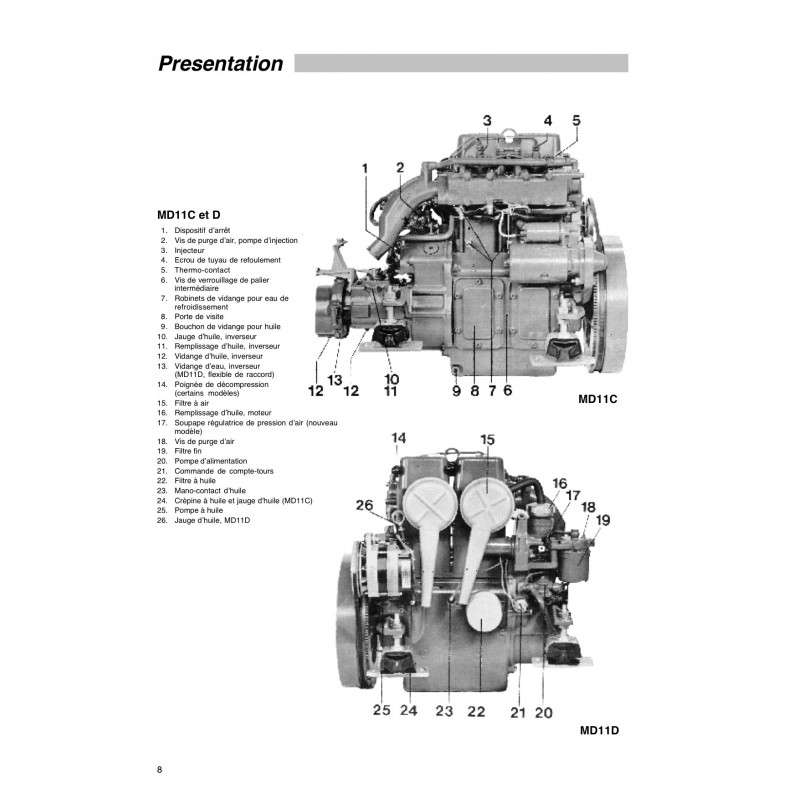 manuel volvo penta diesel md11c  d  u0026 md17c  d unit u00e9 moteur
