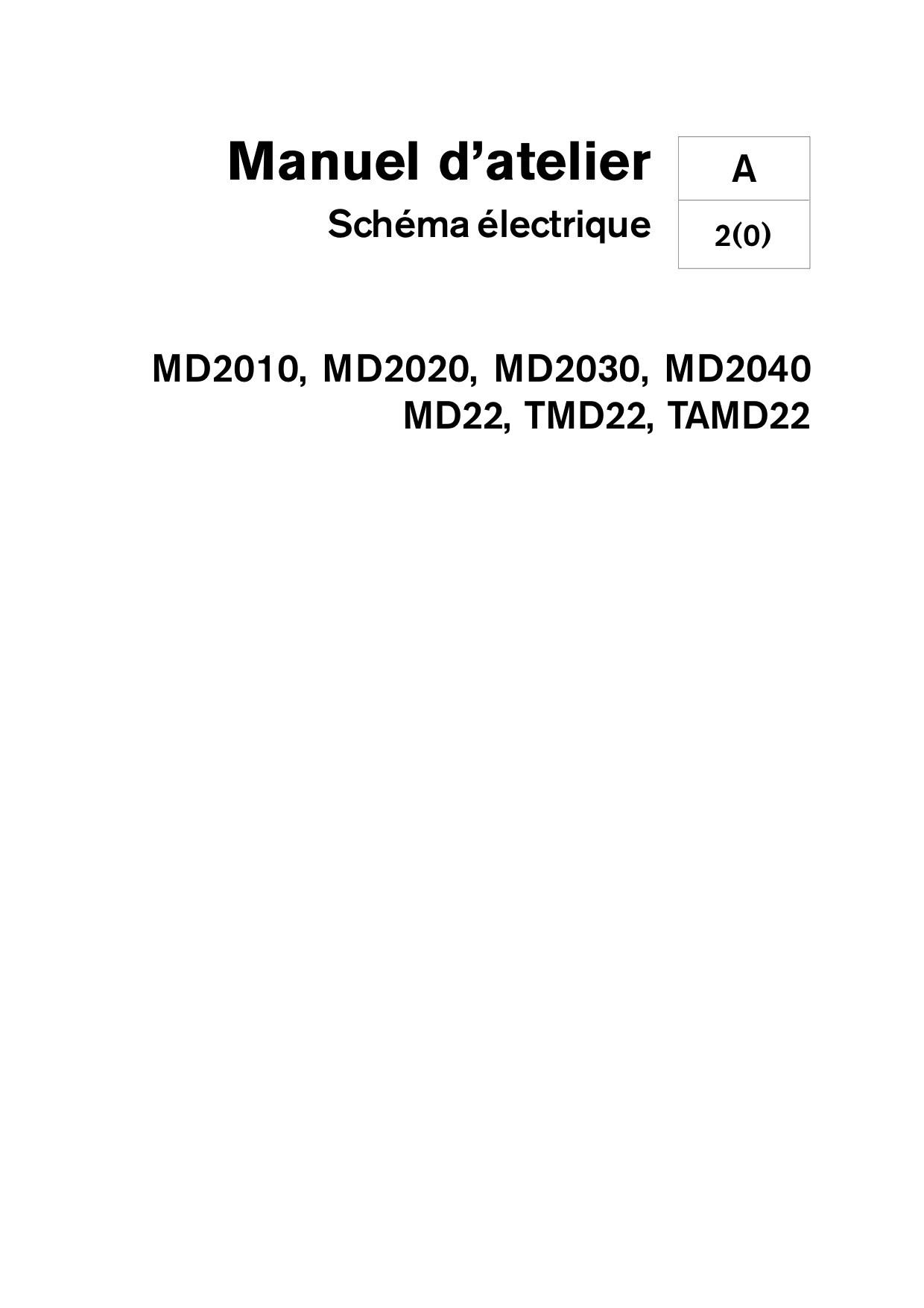 Manuel VOLVO PENTA DIESEL MD2010-MD2020-MD2030-MD2040-MD22 Schéma Electrique