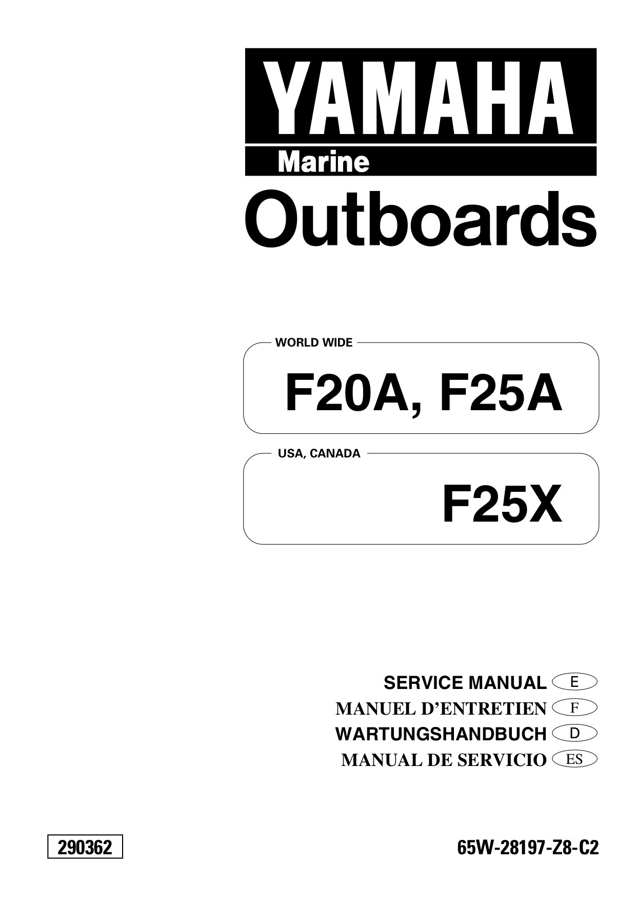 Yamaha F20 Manual Iveco Daily Diagram Repair Manuals Wiring Diagrams Service 1st Page Array Manuel F25 Rh Engine