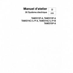 VOLVO PENTA DIESEL D72P-A, D73P-A, D74C-L-P, -A -B, TAMD75P-A Système électrique
