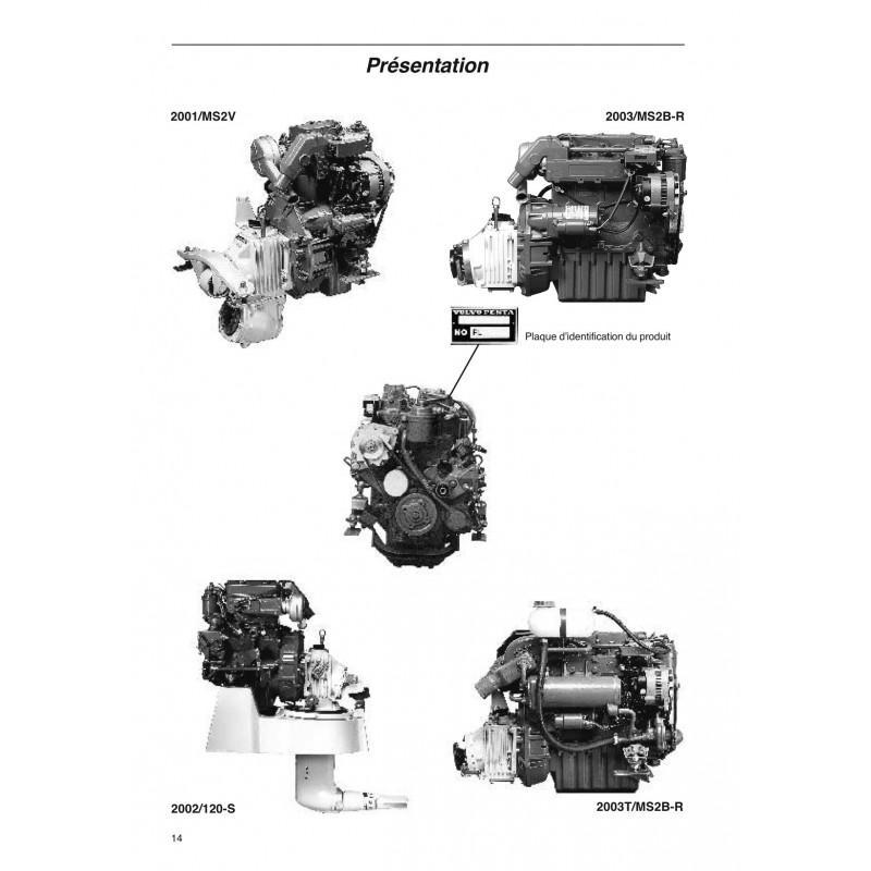 manuel volvo penta diesel 2001-2002-2003-2003t unité moteur