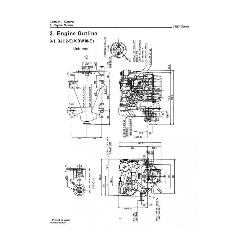 manuel yanmar 3jh2e te rh engine manual com Yanmar 3JH2E Engine Yanmar Diesel