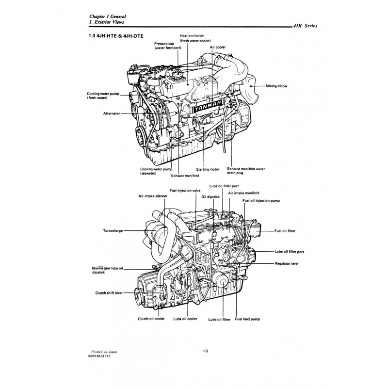 4JH-HTE Marine Diesel Manual Yanmar Repair Engine