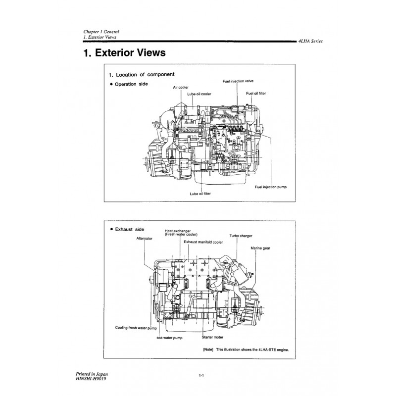 manuel yanmar 4lha ste stze rh engine manual com Snapper Riding Mower Parts Manual JCB Parts Manual
